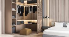 Customised wardrobe shelves