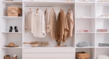 Custom-made wardrobe shelves