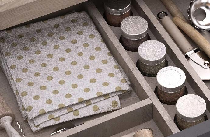 Tailor-made kitchen drawers